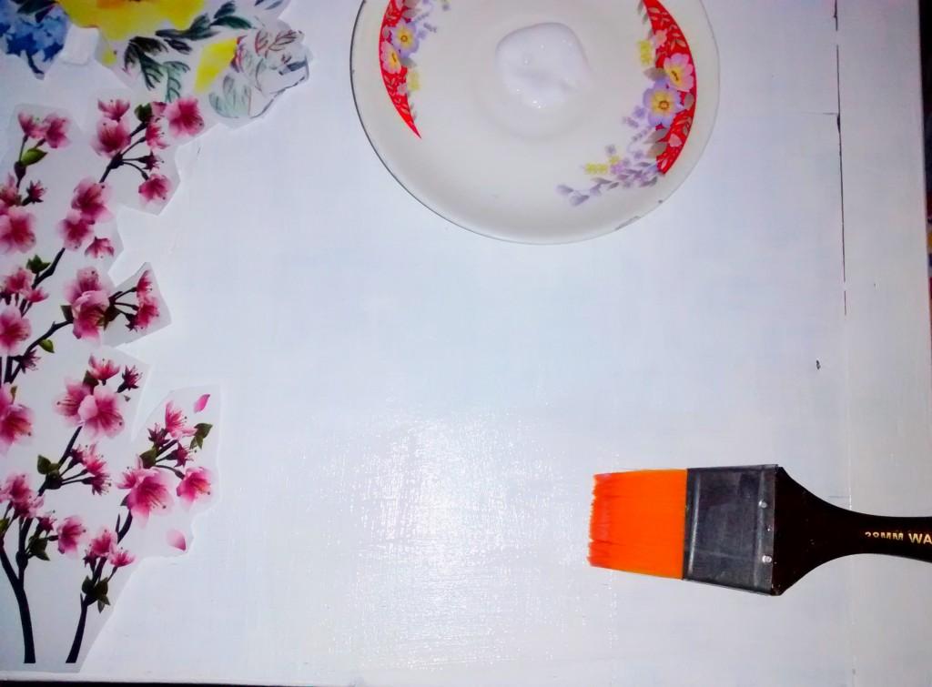 Decoupage table